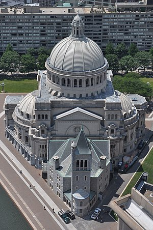 Christian Science - Image: The First Church of Christ, Scientist, Boston, aerial shot (1), 19 July 2011