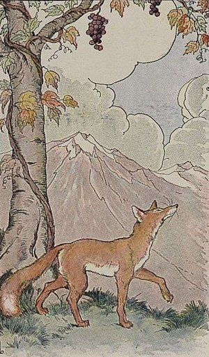 Milo Winter - Image: The Fox and the Grapes Project Gutenberg etext 19994