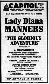 <i>The Glorious Adventure</i> (1922 film) 1922 film by J. Stuart Blackton