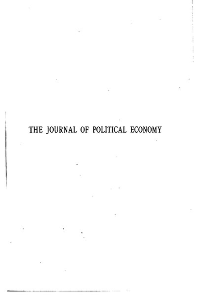 File:The Journal of Political Economy Volume 26.djvu