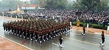 The Kumaon Regiment contingents passes through the Rajpath during the 66th Republic Day Parade 2015, in New Delhi on January 26, 2015.jpg