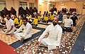 The Minister of State for Home Affairs, Shri Hansraj Gangaram Ahir participating in the 4th International Day of Yoga celebrations, in Medchal District, Telangana on June 21, 2018 (1).JPG