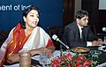 The Minister of State for Tourism, Smt Renuka Choudhury addressing the concluding session of the Round Table meet and Workshop of Tourism Ministers from the BIMSTEC Countries in Kolkata on February 23, 2005.jpg