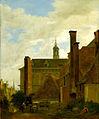 The Old Amsterdam Exchange (Beurs) - Jan van der Heyden (1667) Staatsgalerie Stuttgart.jpg
