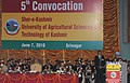 The Prime Minister, Dr. Manmohan Singh addressing the 5th Convocation ceremony of Sher-e-Kashmir University for Agriculture, Science and Technology of Kashmir, in Srinagar, Jammu & Kashmir on June 07, 2010.jpg