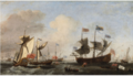 The Royal Visit to the Fleet in the Thames Estuary, 6 June 1672.PNG