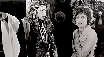 Rudolph Valentino and Agnes Ayres in The Sheik, 1921 The Sheik - Rudolph Valentino and Agnes Ayres.jpg