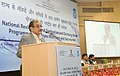 The Union Minister for Rural Development, Panchayati Raj, Drinking Water and Sanitation, Shri Chaudhary Birender Singh addressing at the National Review of State Ministers' Conference on Sanitation and Drinking Water.jpg