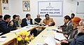 The Union Minister for Tribal Affairs, Shri Jual Oram addressing a press conference on the achievement of his Ministry, in New Delhi on December 27, 2016.jpg
