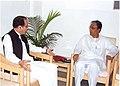 The Union Minister for Water Resources Prof. Saifuddin Soz calls on the Chief Minister of Tripura, Shri Manik Sarkar at Agartala State secretariat on September 14, 2006.jpg