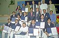 The Union Minister for Youth Affairs and Sports, Shri Sunil Dutt with the Indian Kabaddi Team, who won medals in international sports events during the year 2004, in New Delhi on March 2, 2005.jpg