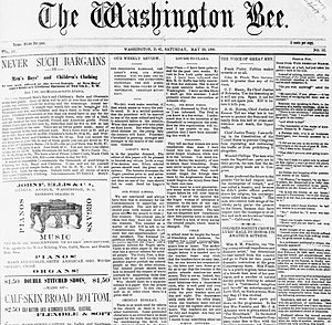 Washington Bee - The Washington Bee – May 29, 1886