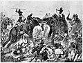 The defeat of Pulikesin II, the Chalukhya, byMahamalla Pallava at Badami.jpg