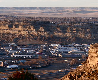 Rimrocks - The first rise and, in the distance, the second rise of the North Rimrocks