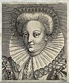 The head and shoulders of a woman who wears a head ornament Wellcome V0019858ER.jpg