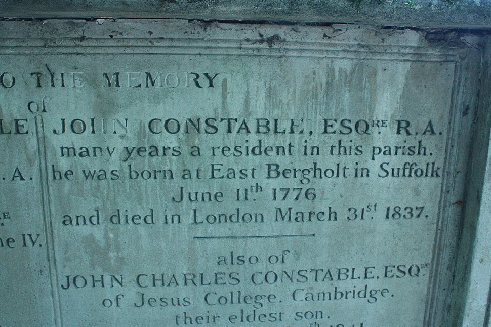 The inscription on John Contable's tomb