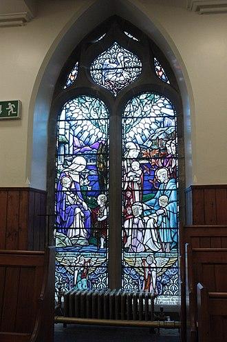 Duddingston Kirk - The memorial window to Joan Carfrae Pinkerton by Douglas Strachan