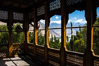 Chaqchan Mosque - Image: The view of valley from Chaqchan Mosque corridor