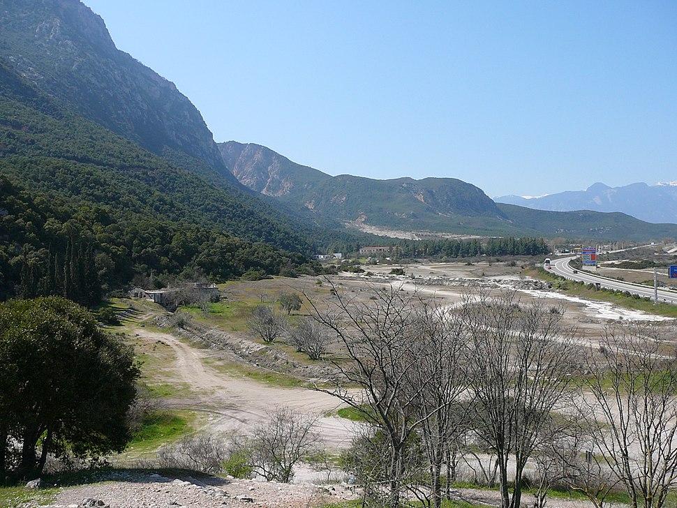 Thermopylae ancient coastline large