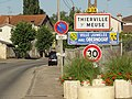 Thierville-sur-Meuse (Meuse) city limit sign.JPG
