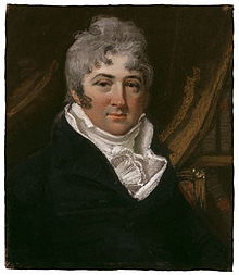 Portrait (c. 1803), pastel, of Thomas Morton (1764–1838) by John Raphael Smith (1752–1812)