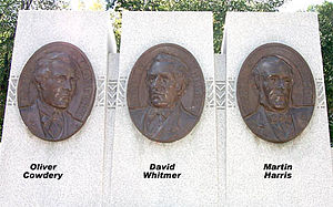 Three Witnesses - Three Witnesses Monument, by Avard Fairbanks.