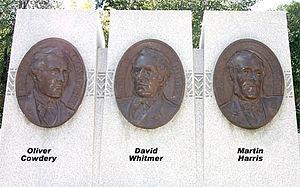 Avard Fairbanks - Three Witnesses Monument, by Avard Fairbanks.