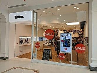 Three UK - A Three UK store in Royal Tunbridge Wells, England