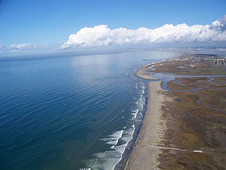 Tijuana River National Estuarine Research Reserve - Image: Tijuana River National Estuarine Research Reserve coastline