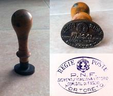 Timbro di franchigia delle Regie Poste utilizzato a Tortoreto (TE)