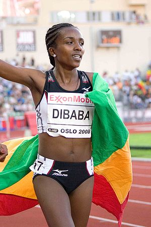 English: 5000m women: Tirunesh Dibaba of Ethio...