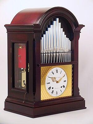 "Musical clock - Musical ""flute clock"" with organ manufactured by Matthias Naeschke"