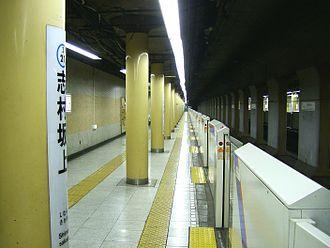Shimura-sakaue Station - Platform level of Shimura-sakaue Station.