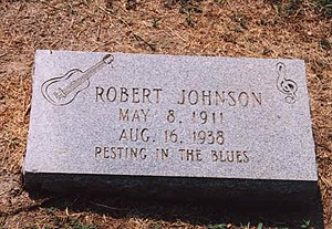 Robert Johnson - Alleged gravesite with one of Johnson's three tombstones