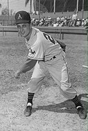 Tommy Lasorda with the Kansas City Athletics in 1956.jpg