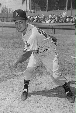 Tommy Lasorda with the Kansas City Athletics in 1956.jpg
