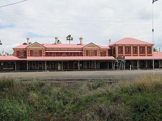 Toowoomba railway station - Toowoomba Railway Station (platform side), 2012