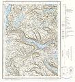 Topographic map of Norway, E31 vest Vangsmjøsi, 1960.jpg