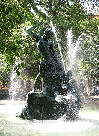 Fountains and ponds of Stockholm - Thor and Midgårdssnake, Södermalm.