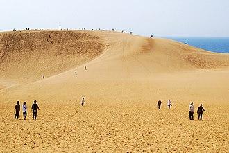 Sanin Kaigan National Park - Tottori Sand Dunes in Tottori, Tottori prefecture, Japan.