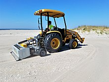 Tractor Attached Beach Cleaner