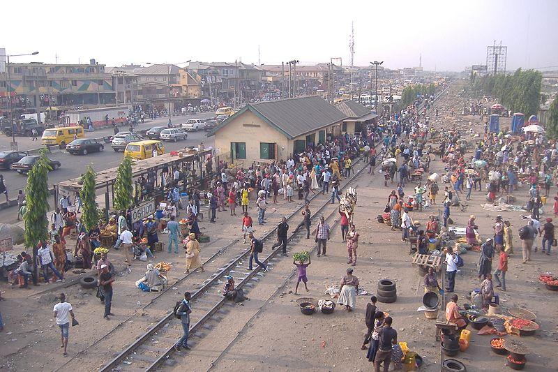 File:Train Stations in Oshodi, Lagos, Nigeria Photo Taken by Mr. Olusola D, Ayibiowu Date 13th January 2017.jpg