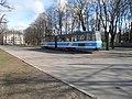 Tram 140 at L. Koidula Stop in Tallinn 16 April 2015.JPG