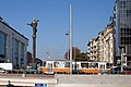 Tram in Sofia near Sofia statue 2012 PD 022.jpg