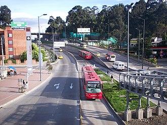 Avenida Suba - Image: Trans Milenio 21 Angeles