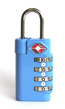b8e8eac73 Luggage lock - Wikipedia