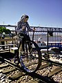 Tricicle combined railway bike combined pedal and hand driven Khabarovsk Russia museum of Amur bridge.jpg