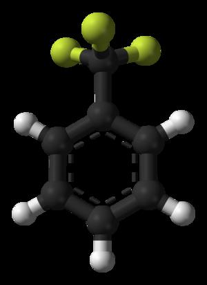 Trifluorotoluene - Image: Trifluorotoluene 3D balls