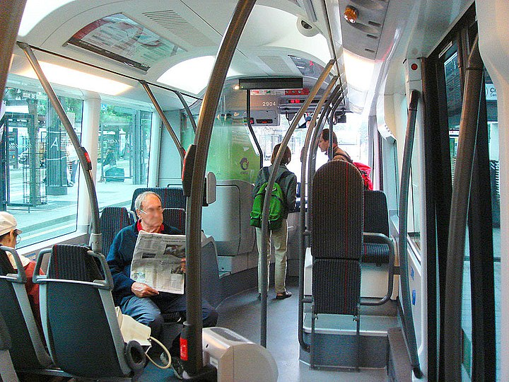 В салоне троллейбуса Irisbus