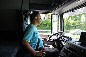 Veronica538 at work as truckdriver